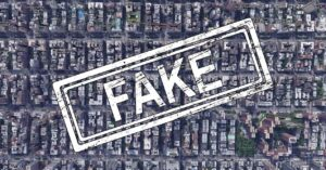 maps with fake sites that don't exist