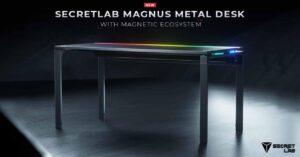 Secretlab Magnus Metal, gaming table that makes cable management easy