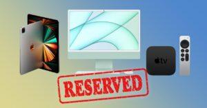 iMac, iPad Pro and Apple TV