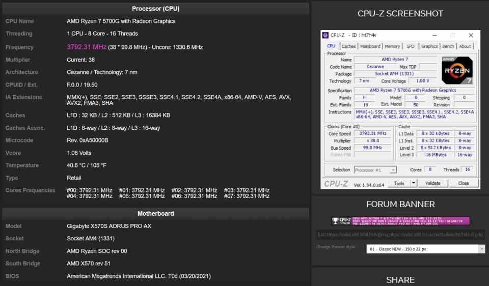 X570S on OEM PC
