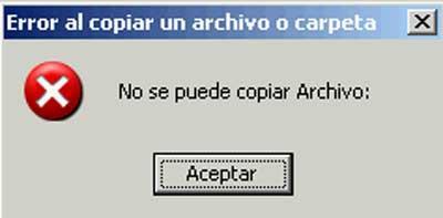 error copy file