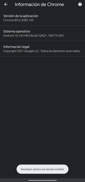 activate google chrome developer menu