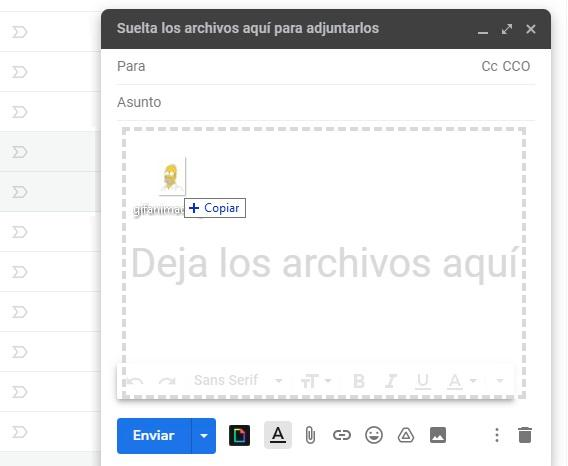 Drag gif Gmail