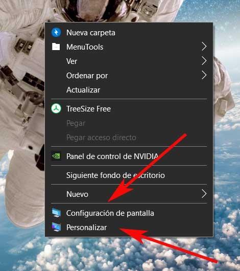 contextual desktop windows screen