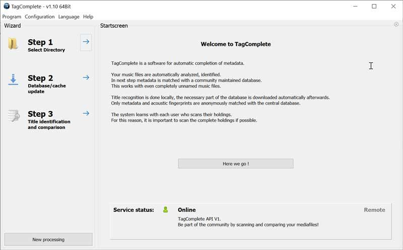 TagComplete interface