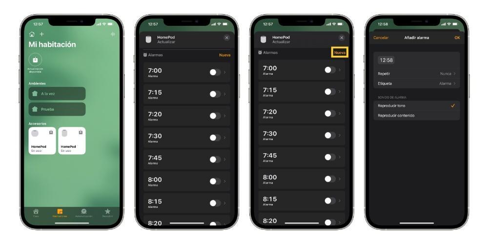 Set alarm on HomePod