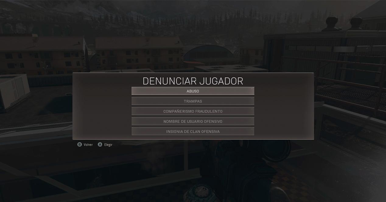 Report Warzone Player