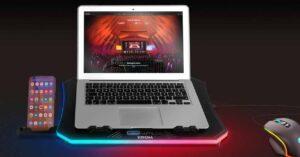 Krom Kooler, RGB laptop cooler base with mobile stand