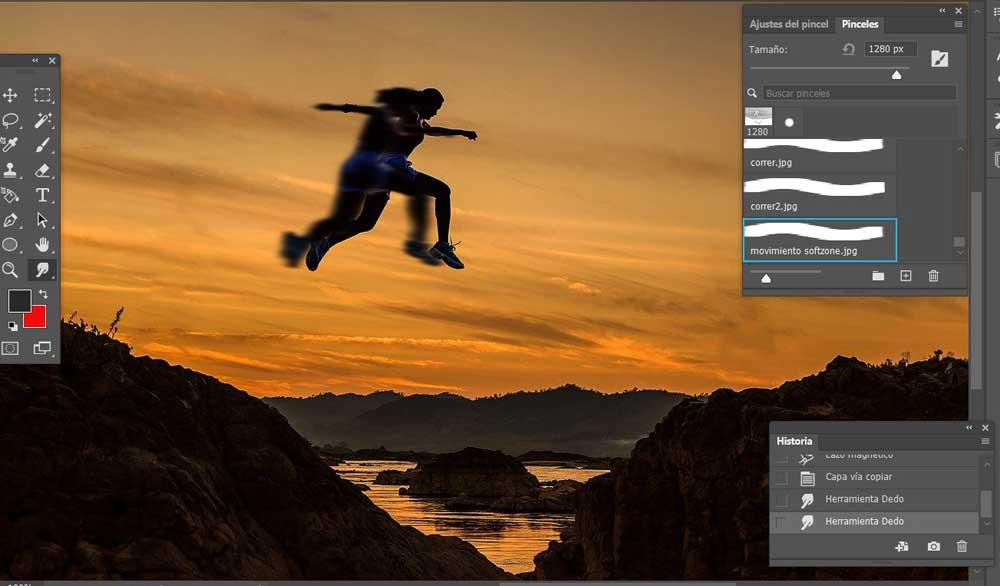 Photoshop motion effect