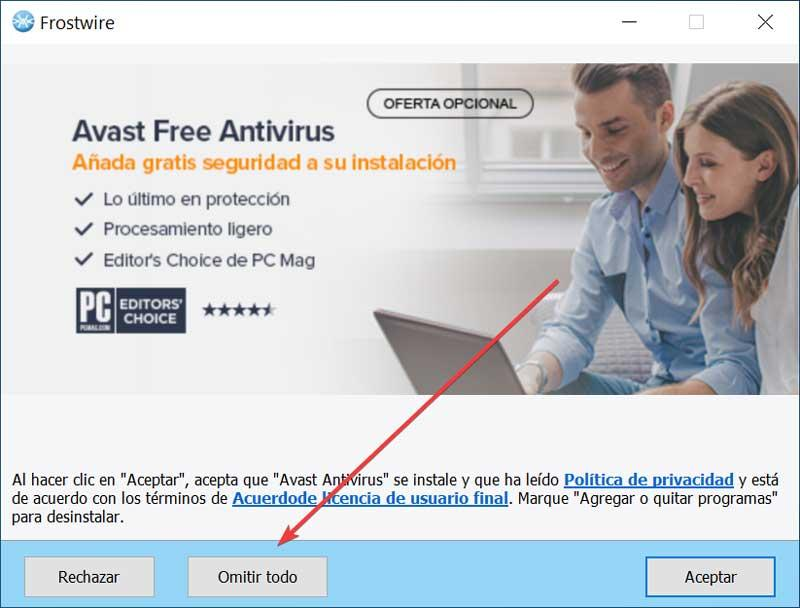 FrostWire installation of unwanted programs