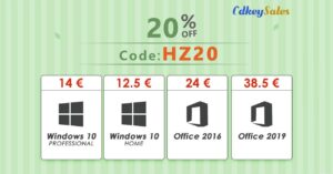 Discounts on Windows 10 licenses, from only 12.50 euros