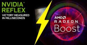 Comparison AMD Radeon Boost vs NVIDIA Reflex in graphics cards