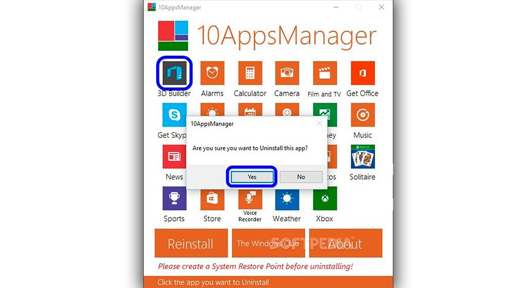 reinstall Windows applications