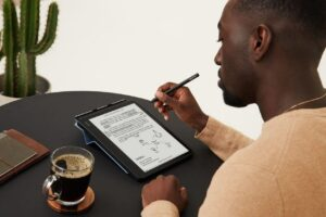 this is how the ebook reader works with a touch…