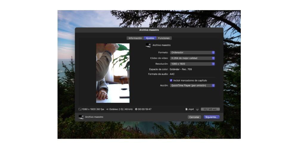 Master file, settings