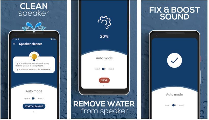 repair speaker expel water