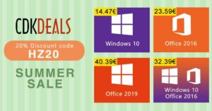 Cheap Windows 10 Pro and Office license with 20% discount
