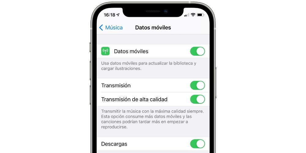 mobile data apple music