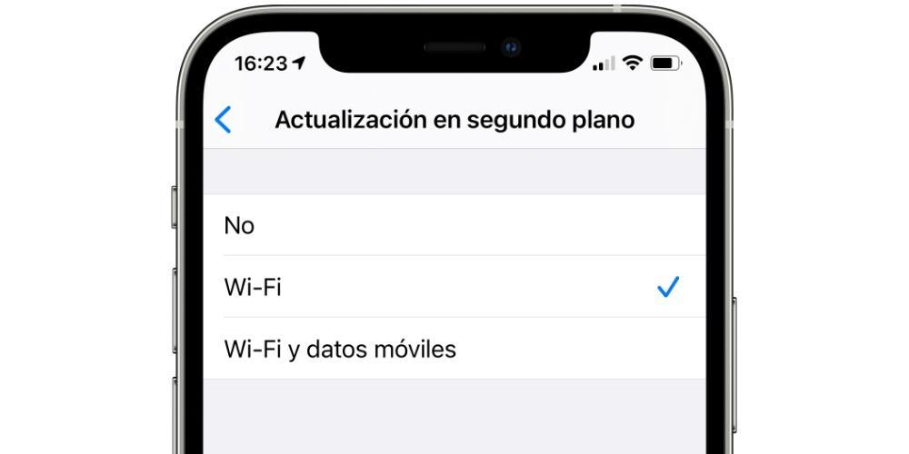 mobile data background updates