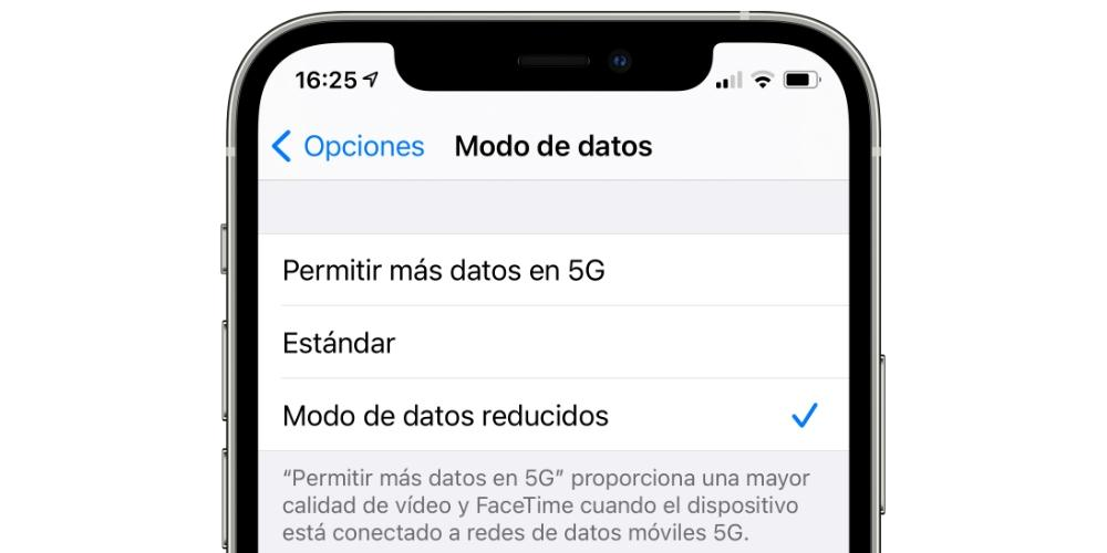 reduced data mode iphone