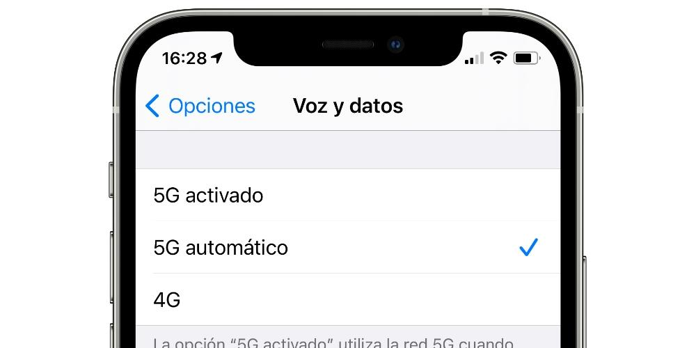 voice and data 5g iphone