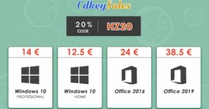 Cheap and legal Windows 10 and Office licenses, 20% off!