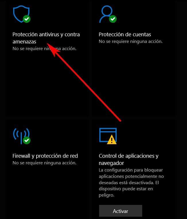 Protection against Windows Defender viruses and threats
