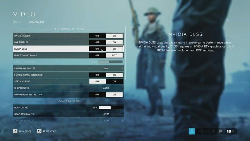 DLSS in Battlefield
