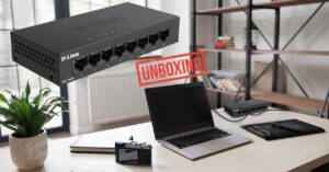 Switch unboxing with 8 Gigabit Ethernet ports