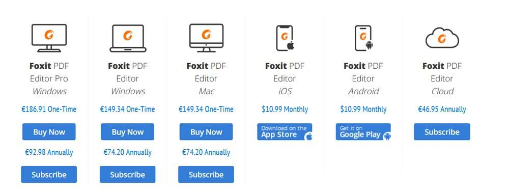 foxit prices