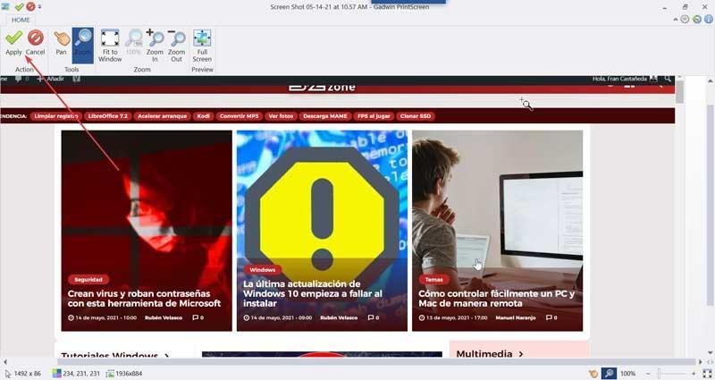 Gadwin PrintScreen save screenshot