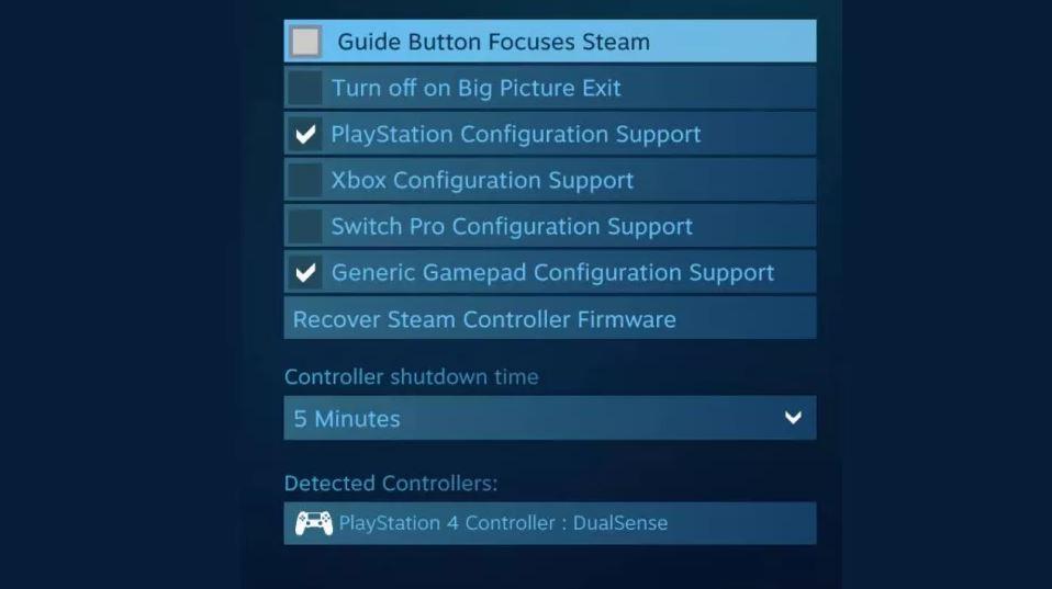 PS5 Steam Controller