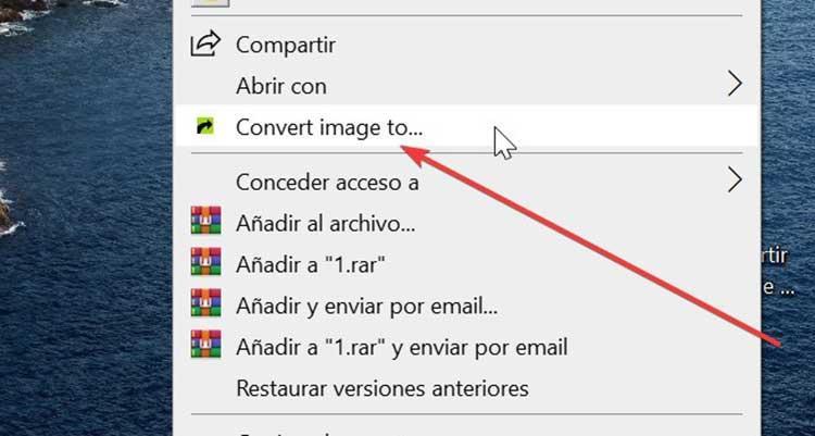 Right Click Image Converter image conversion