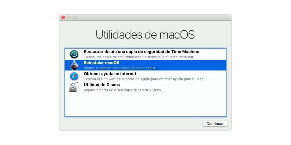 Restore Mac to update