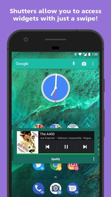 Action Launcher introduces the new Shutter Widgets