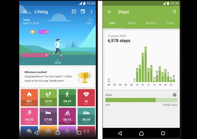 Lifelog app sample images