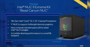 Intel NUC 11 with full-size graphics – first image