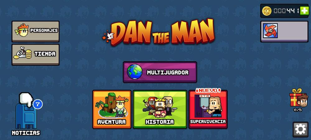 dan the man main menu