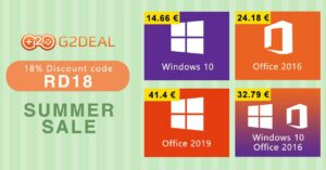 Best offers to buy Windows and Office licenses at G2Deal