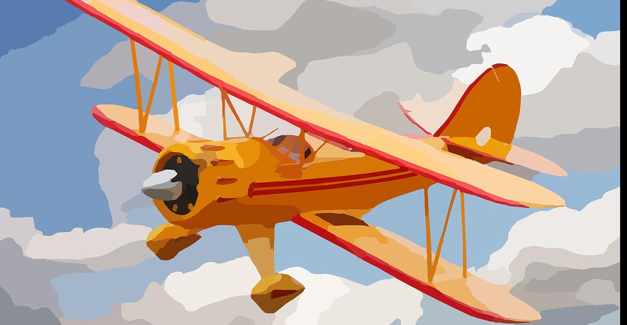 Watercolor of a small plane