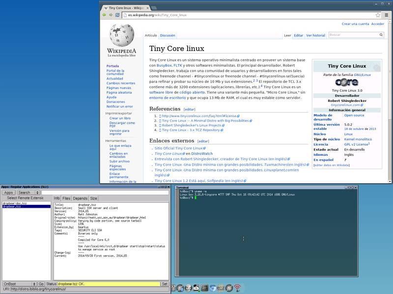 Tiny Core Linux and Chromium
