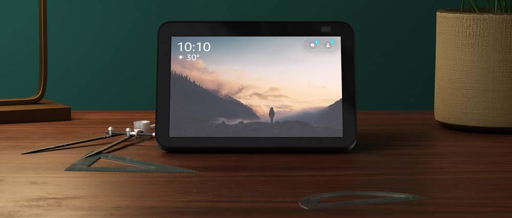 Amazon Echo Show 8 on a table
