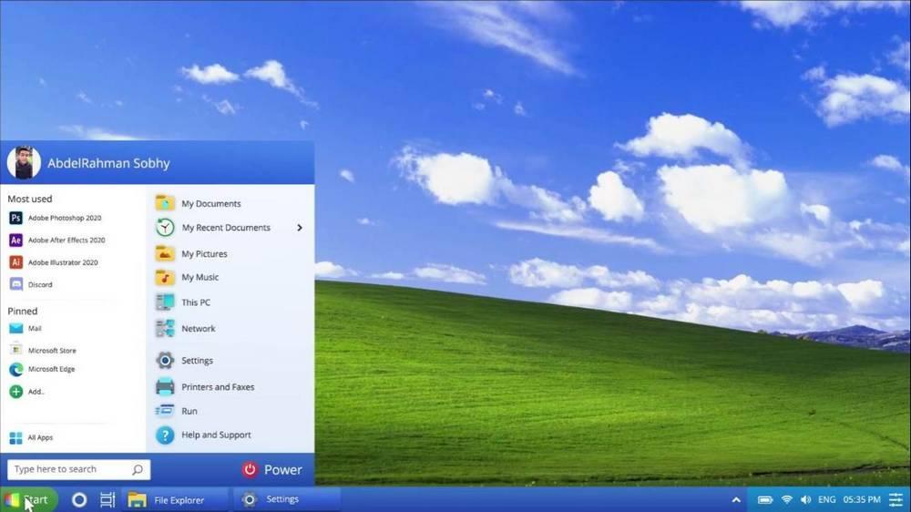 Windows XP 2021 Edition - home