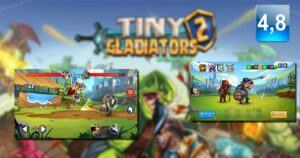 Tiny Gladiators 2, fight with your warriors and defeat the…