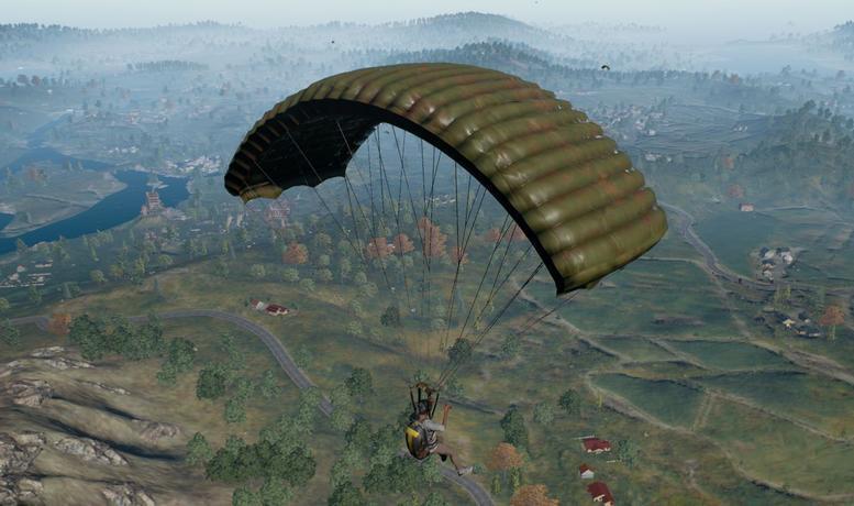 PUBG Mobile landing