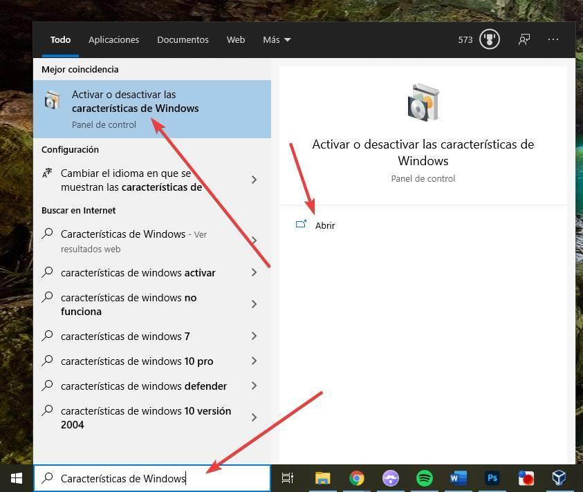 Add or remove Windows features
