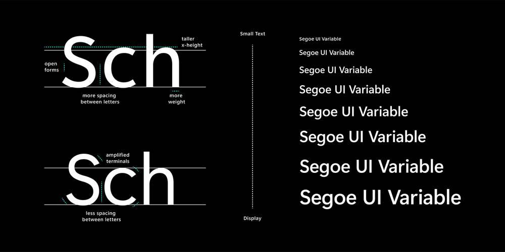 New Segoe UI Variable font