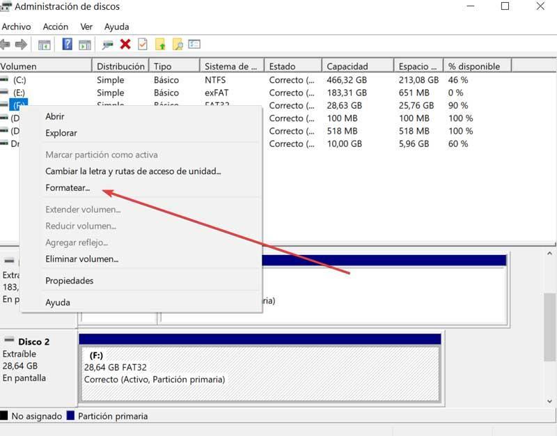 Disk manager Format