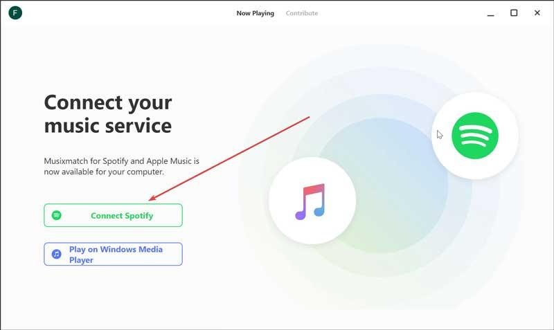 Connect Musixmatch with Spotify