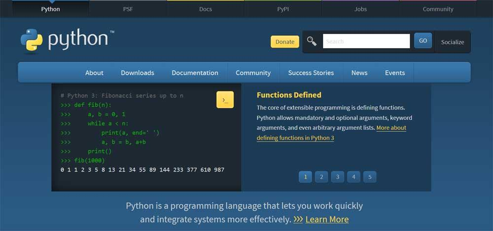 phyton programming languages